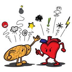 Brain and Heart Fighting