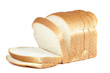 cut of loaf bread on white