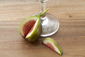 fig and wine glass