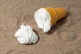 spilled ice cream sundae