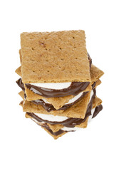 smore sandwich in white