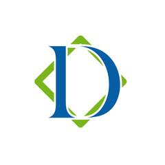 Logo initial letter D # Vector