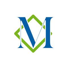 Logo initial letter M # Vector