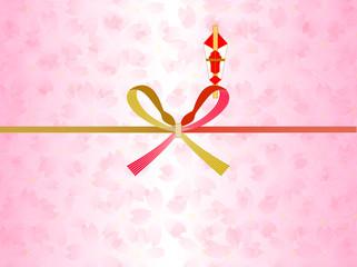 巳 熨斗 桜 背景