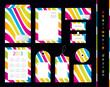 Stationery design set with special design