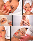 Beauty treatment collage