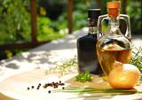 Balsamico und Olivenöl