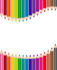 Banderole crayons de couleurs