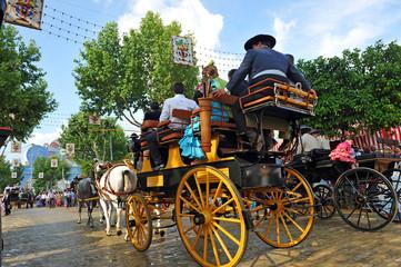 Coche de caballos, Feria de Sevilla