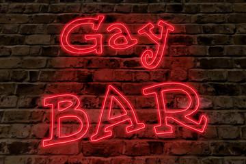 Gay Bar Neon Sign