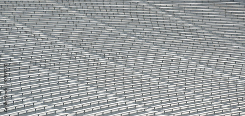 Football Stadium bleacher seats at a college