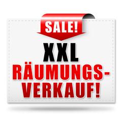 XXL Räumungsverkauf! Button, Icon