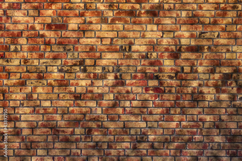 sandy brick wall