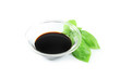 Balsamic vinegar and basil