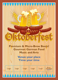 Oktoberfest poster template - editable - text can be replaced