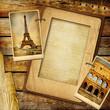 vintage background with blank frame
