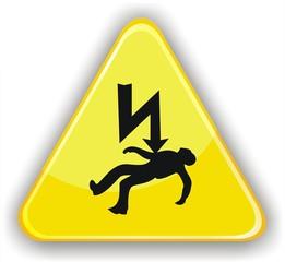 panneau électrocution