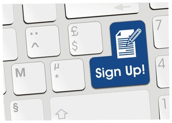 clavier sign up