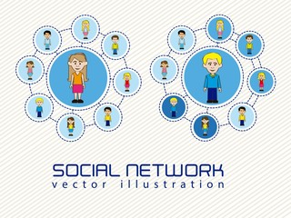 illustration of social networks