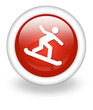 "Light Red Icon ""Snowboarding"""