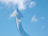Arrow - aspire to sky - with clipping path poster