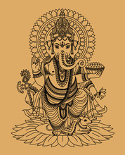 Indischer Gott Ganesha