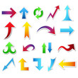 big arrow sticker set, multiple colours