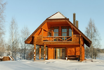 House in winter season.