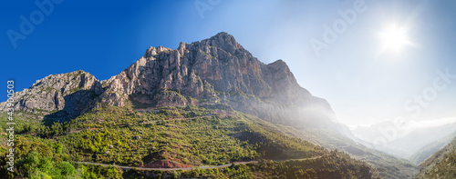 sunrise on the mountain Montserrat. Spain