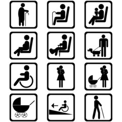 Priority seating area signs