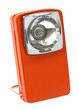 Orange retro flashlight