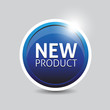 New product blue button