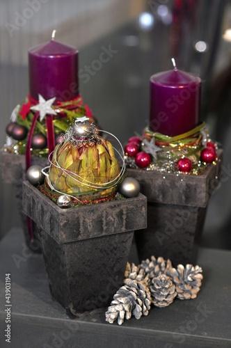 Weihnachten dekoration mit kerzen stockfotos und lizenzfreie bilder auf bild - Dekoration kerzen ...