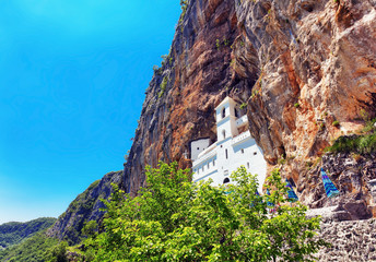 view on Ostrog ortodox monastery.
