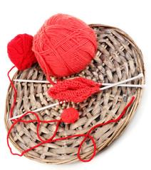 Red knittings yarns