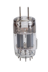 Vacuum electronic radio tubes isolated on a white background