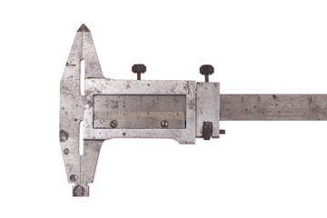 Vernier calipers isolated on white background