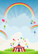 Travelling circus and rainbow