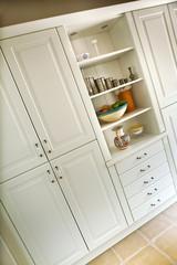Maison, cuisine, intérieur, mobilier, meuble, placard