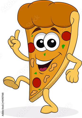 Pizza cartoon character