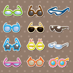 Sunglasses set stickers