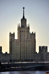 Moscow. Stalin skyscraper on Kotelnicheskaya embankment