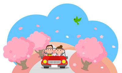 春 デート ドライブ