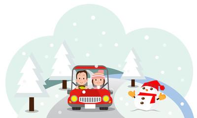 冬 デート ドライブ