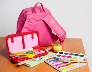 Portfolio and school supplies