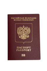 Russian Federation Passport on white background