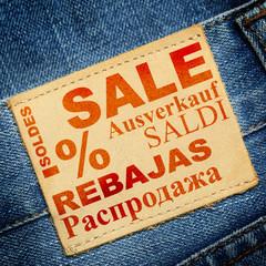 Jeans label - Sale