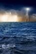 Lightning, sea