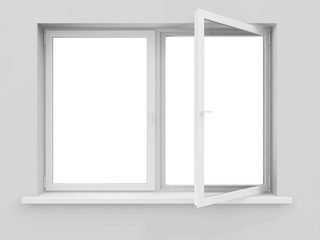 Opened Window isolated on white background