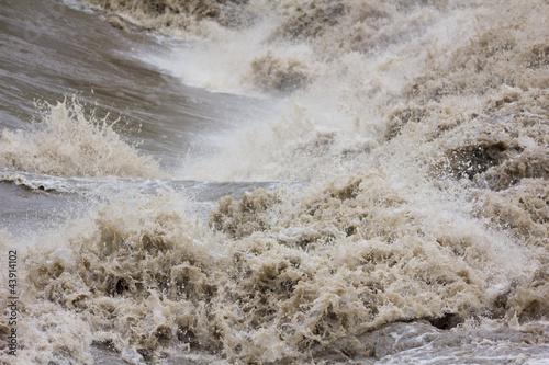 Leinwanddruck Bild Hochwasser